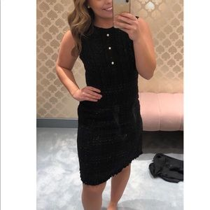 NWT Kate Spade Black Tweed Pearl Dress Size 8